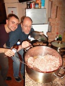 German_meat_balls_with_Ukrainian_beer