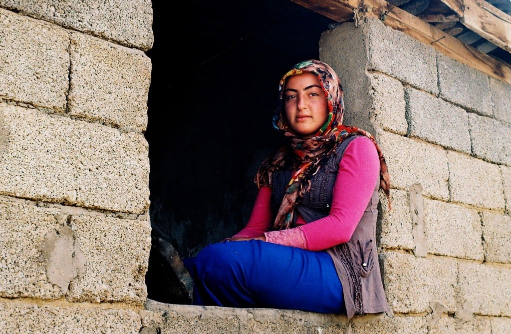 Kurdish woman in Yedi kilise